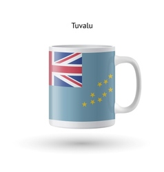 Tuvalu flag souvenir mug on white background vector
