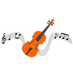 Violin and stave vector