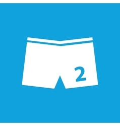 Swimming trunks icon simple vector