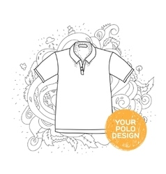 Blank polo design concept hand drawn style with vector