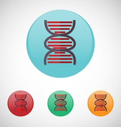Dna spiral icon set vector