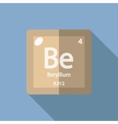 Chemical element Beryllium Flat vector image
