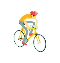 Man racing on bicycle vector