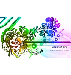 Colorful concert poster vector