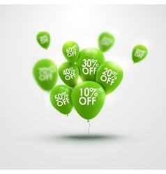 Trendy beautiful background with green baloons and vector