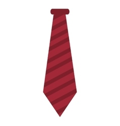 Red striped necktie vector