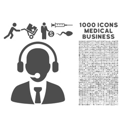 Call center icon with 1000 medical business vector