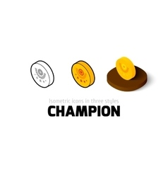 Champion icon in different style vector image vector image