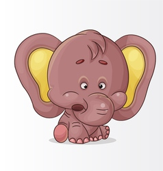 character elephant vector image vector image