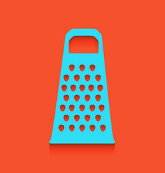 Cheese grater sign whitish icon on brick vector