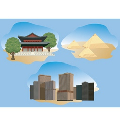 cities illustration vector image vector image