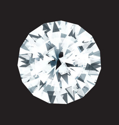 Diamond on a black background vector