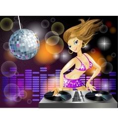 Disco girl vector