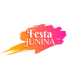 Festa junina holiday greeting background vector