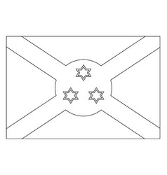 Flag of burundi 2009 vintage vector