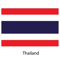 Flag of the country thailand vector image