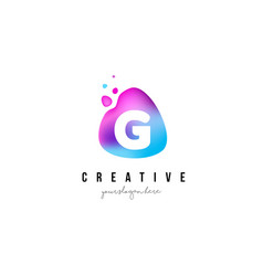 g letter dots logo design with oval shape vector image vector image