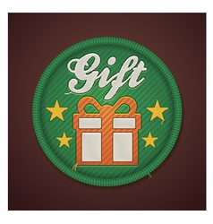 gift fabric badge vector image vector image
