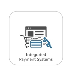 Integrated Payment Systems Icon Flat Design vector image vector image