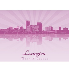 Lexington skyline in purple radiant orchid vector