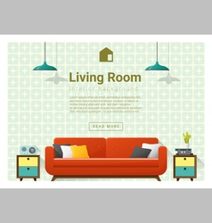 Living room Interior background 4 vector image vector image