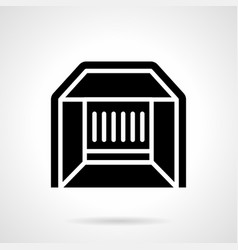 Market stall glyph style icon vector