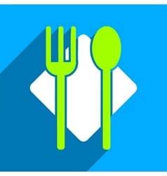Nutrition Flat Square Icon with Long Shadow vector image vector image