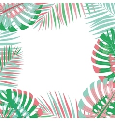 Palm leaves background vector image vector image
