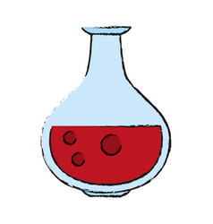 Round bottom flask test tube icon image vector