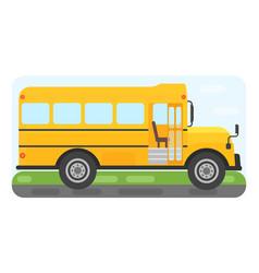 school bus transport for children vector image vector image