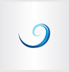 spiral water wave clip art vector image