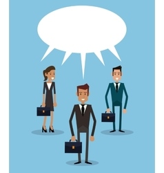 Teamwork business persons bubble speech dialog vector