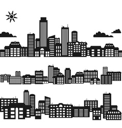Silhouettes of buildings vector