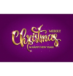Golden text on purple background vector