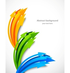 Background with arrows vector