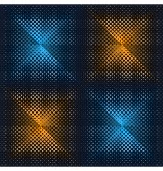 Abstract halftone origami design vector image