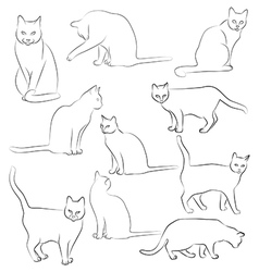 Cats silhouette graphic images of cats vector