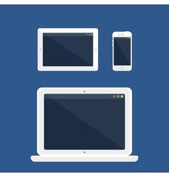 Adaptive Design Web Template vector image