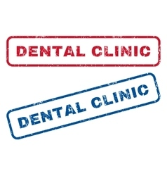 Dental clinic rubber stamps vector