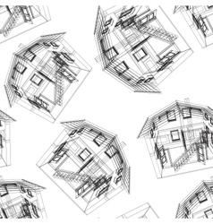 Stylized house pattern vector image