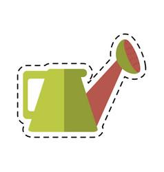 cartoon water can gardering vector image