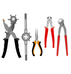 Set of different tools for a household vector