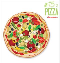 pizza background retro design vector image