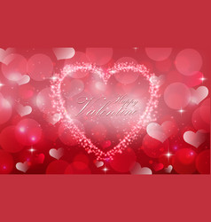 Red valentine with background a heart concept vector
