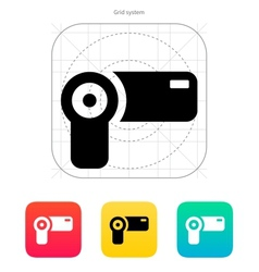 Hand-held camera icon vector