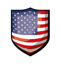 badge with flag united states of america colorful vector image