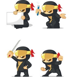 Ninja customizable mascot 2 vector