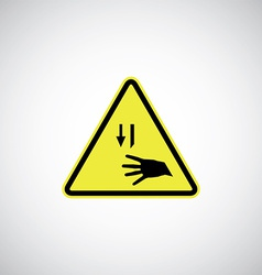 Cutting risk sign vector