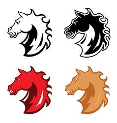 mustang head mascot vector image