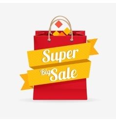 Sale bag labels concept vector